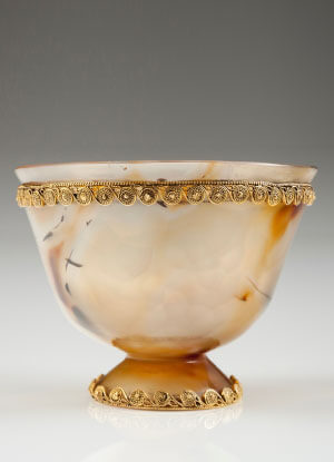 Agate and gold cup the bridge collection